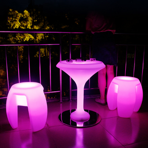 outdoor battery Remote Control LED Bar Cocktail Table