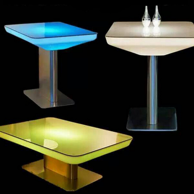 color changes Lighted LED Bar Table Coffee table