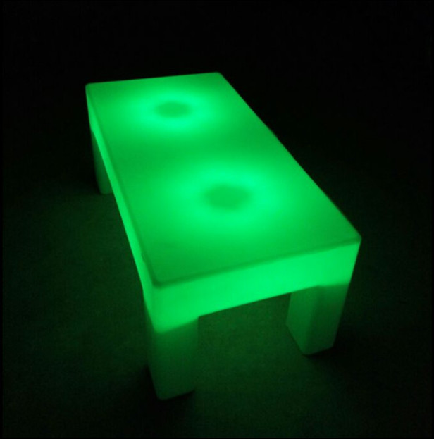 outdoor 16 colors change LED Furniture Glowing Coffee Bar Table