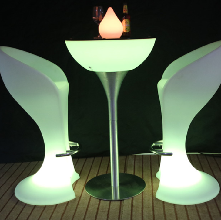 LED colors change Waterproof Coffee Cocktail Table