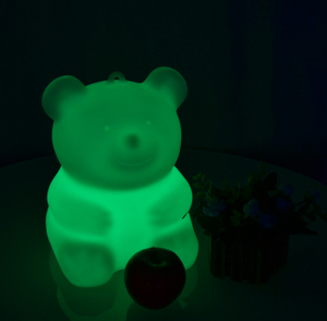 PE colors change Cute Bear LED Decorative Light