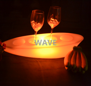 Boat shape led wine glass holder with led lights