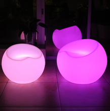 PE rechargeable color change outdoor led apple chair