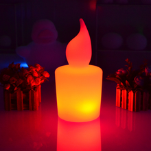 PE Rechargeable outdoor RGBW LED candle Light