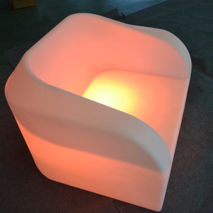 outdoor 16 Color Change Plastic LED Sofa