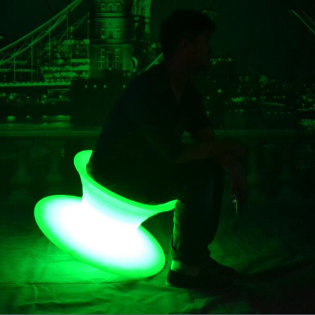 PE outdoor color changes Spun chair with LED Lights