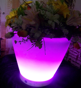 16 Color Change LED Flower Pot