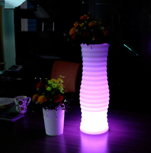 Plastic Illuminated LED Flower Pot Home Decor