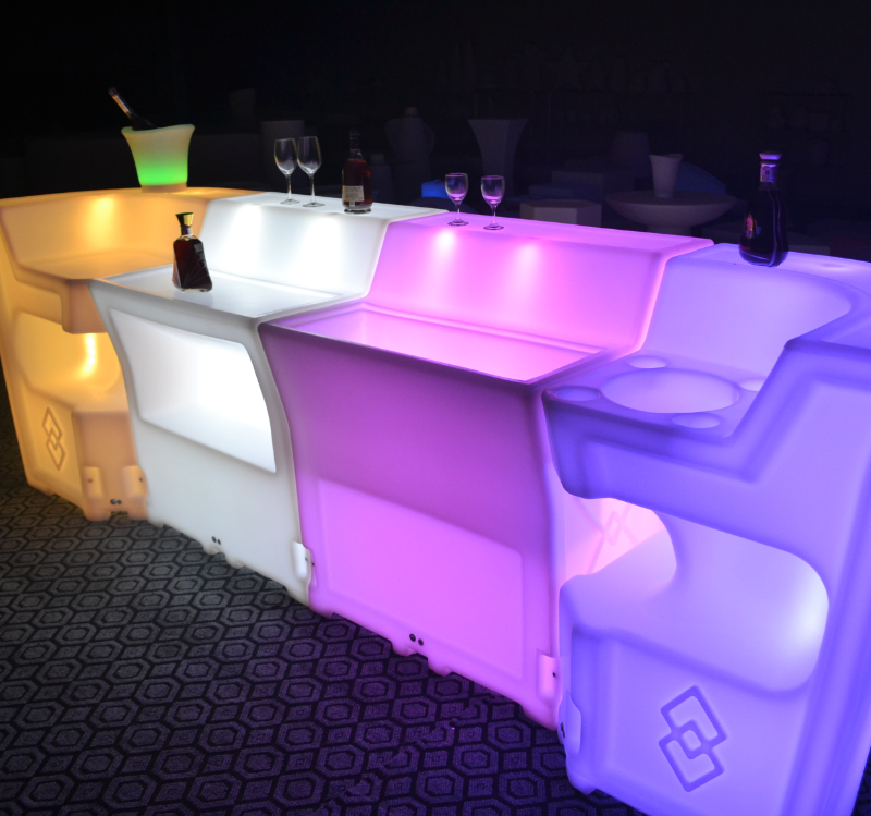 Battery Rechargeable LED Bar Counter