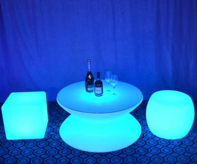 Waterproof PE Plastic LED Illuminated Bar Table