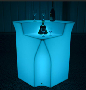 Modern Light up LED Illuminated Bar Counter