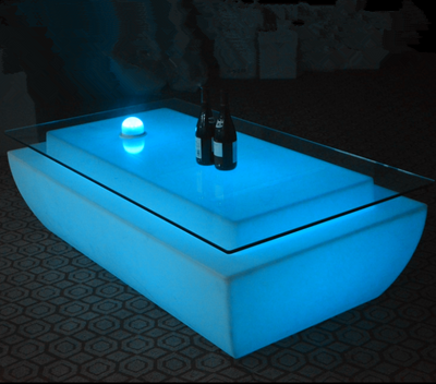 battery Illuminated Light up LED Coffee Bar Table